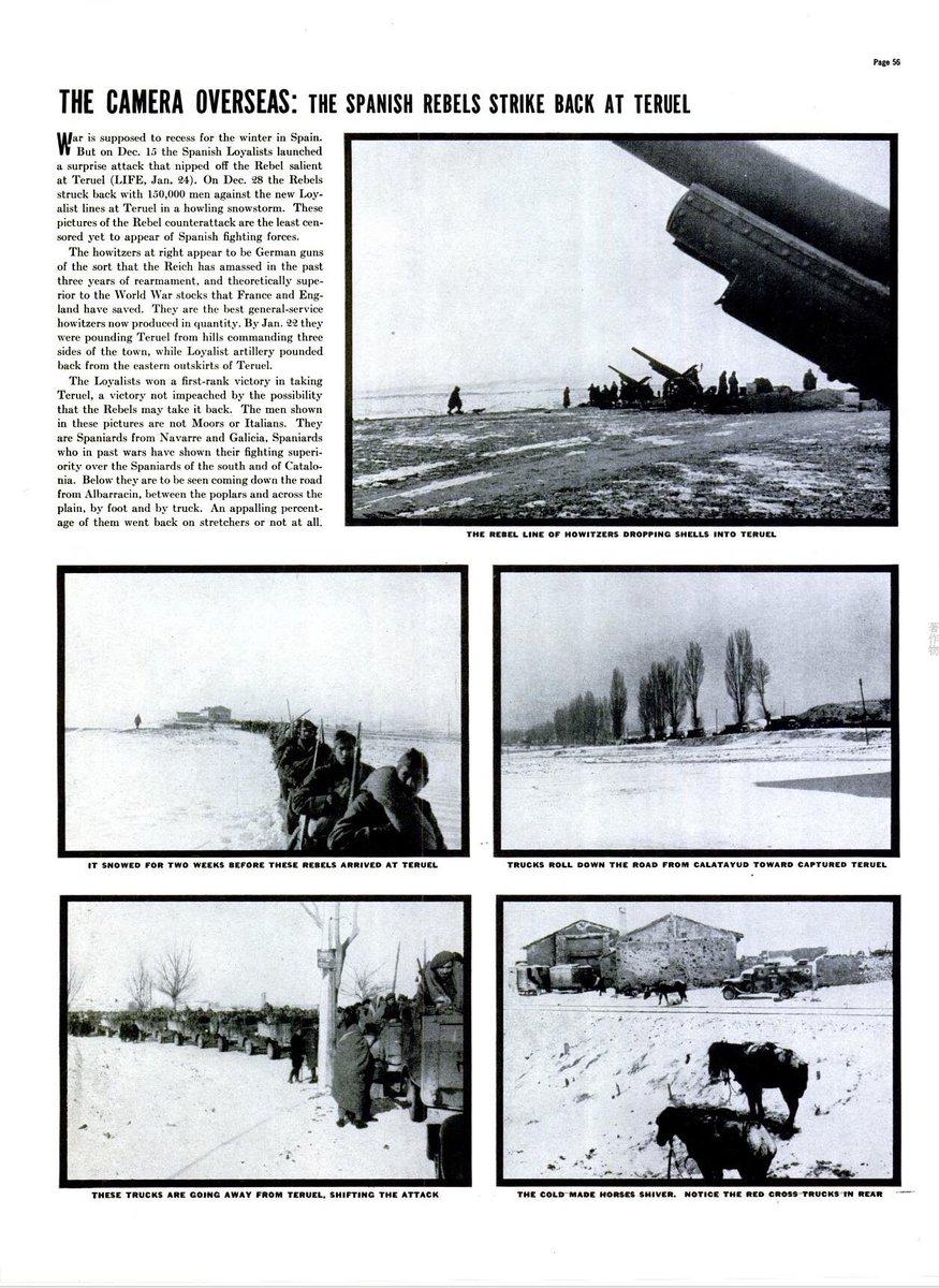 #1938年のToday The Spanish rebels strike back at Teruel. ※1/31/1938,LIFE # spain #Teruel (Spanish civil war)pic.twitter.com/nKZOyL033R