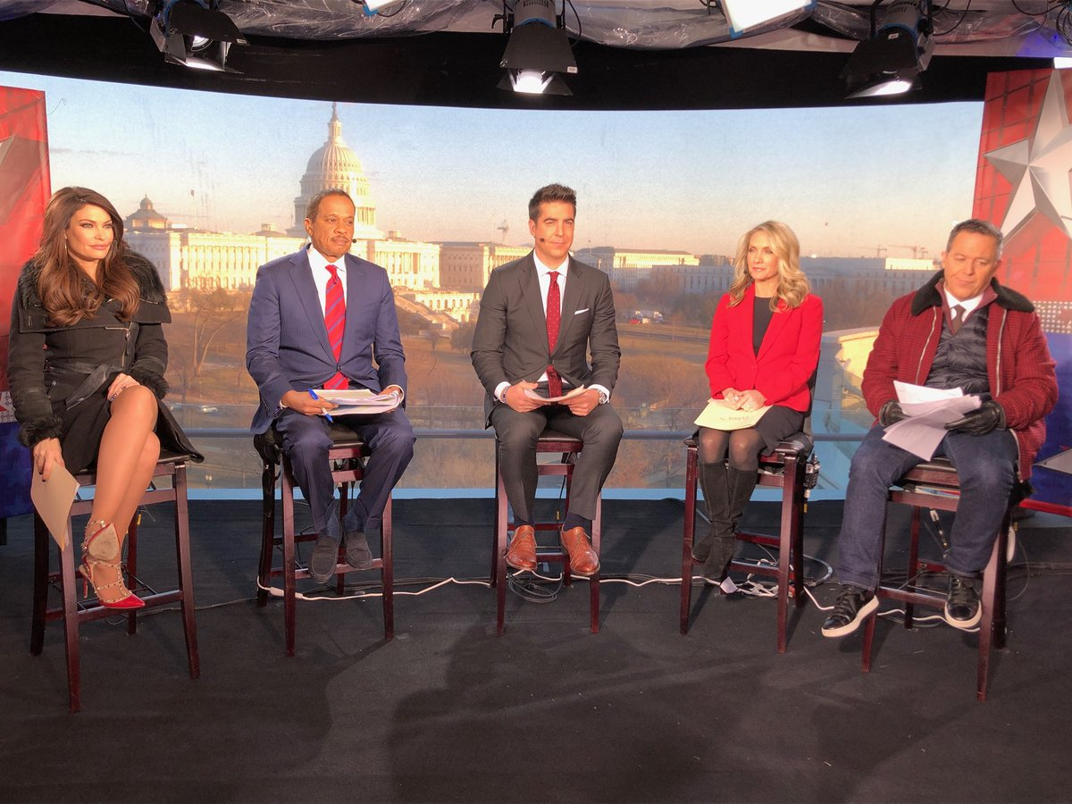 We are LIVE from Washington, previewing President Trump's first State of the Union Address tonight, tune in! #thefive