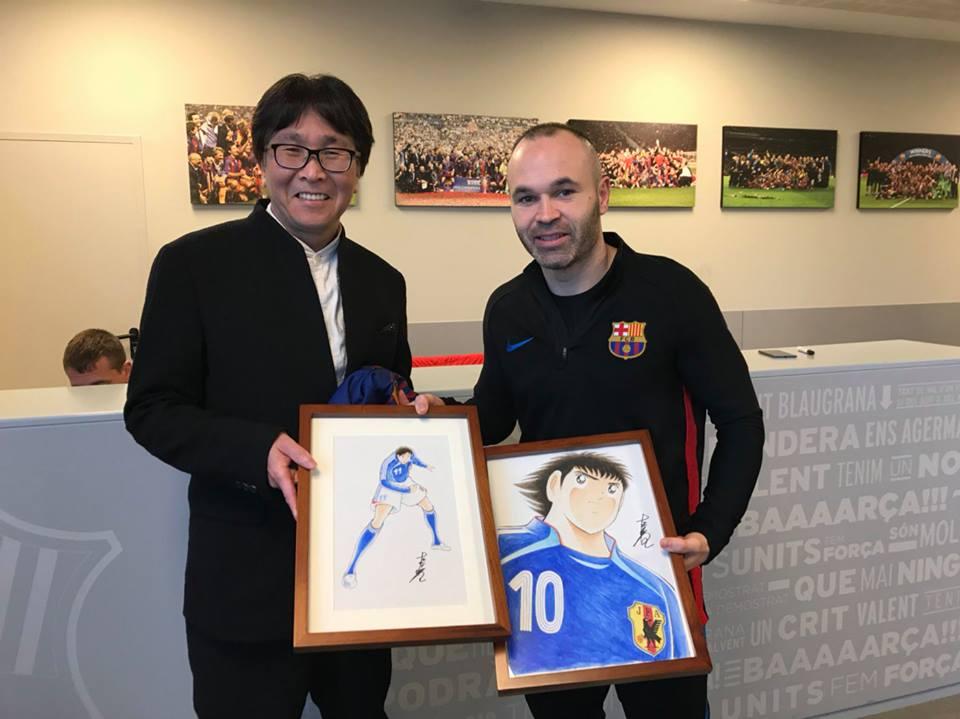 Kết quả hình ảnh cho iniesta Tsubasa, Yoichi Takahashi