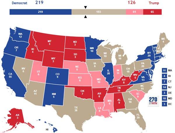 270towin On Twitter How Donald Trump S Approval Rating By State