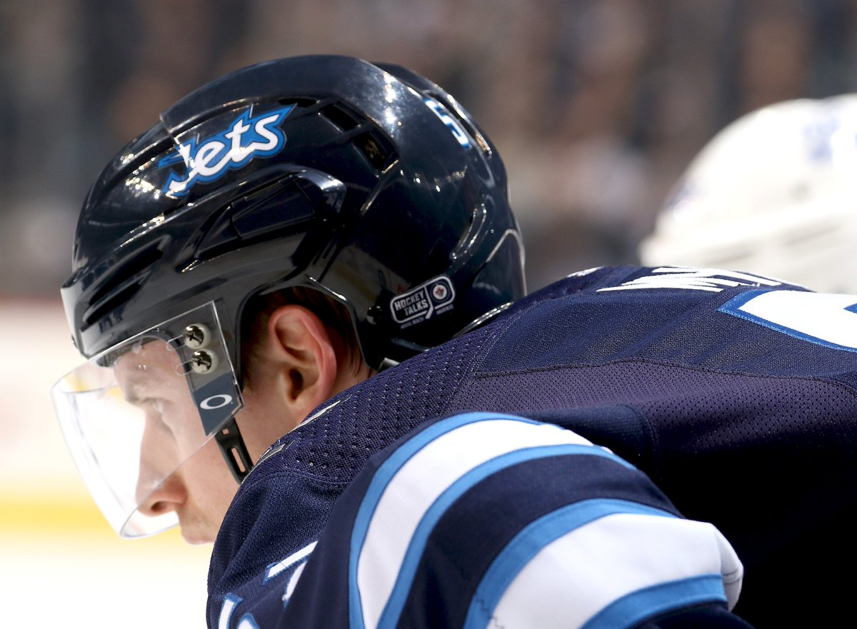 Winnipeg Jets On Twitter Tonight Through Until February 20th The Nhljets Will Proudly Be Wearing Hockeytalks Stickers On Their Helmets