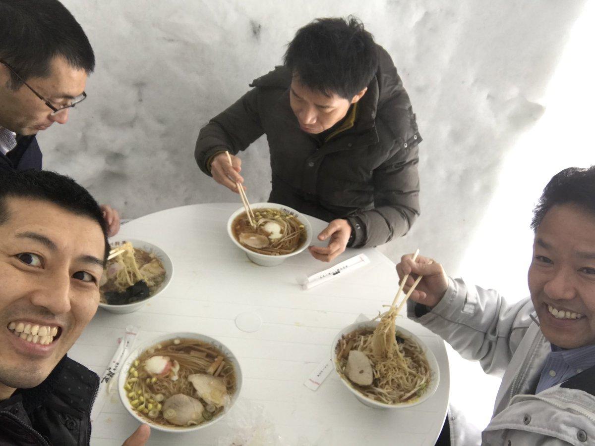 本日のランチ。豆もやしラーメン、うまー。  #かまくら村 #近いよ米沢