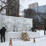 「けものフレンズ」の雪像?北海道のさっぽろ雪まつりで盛り上がろう♪