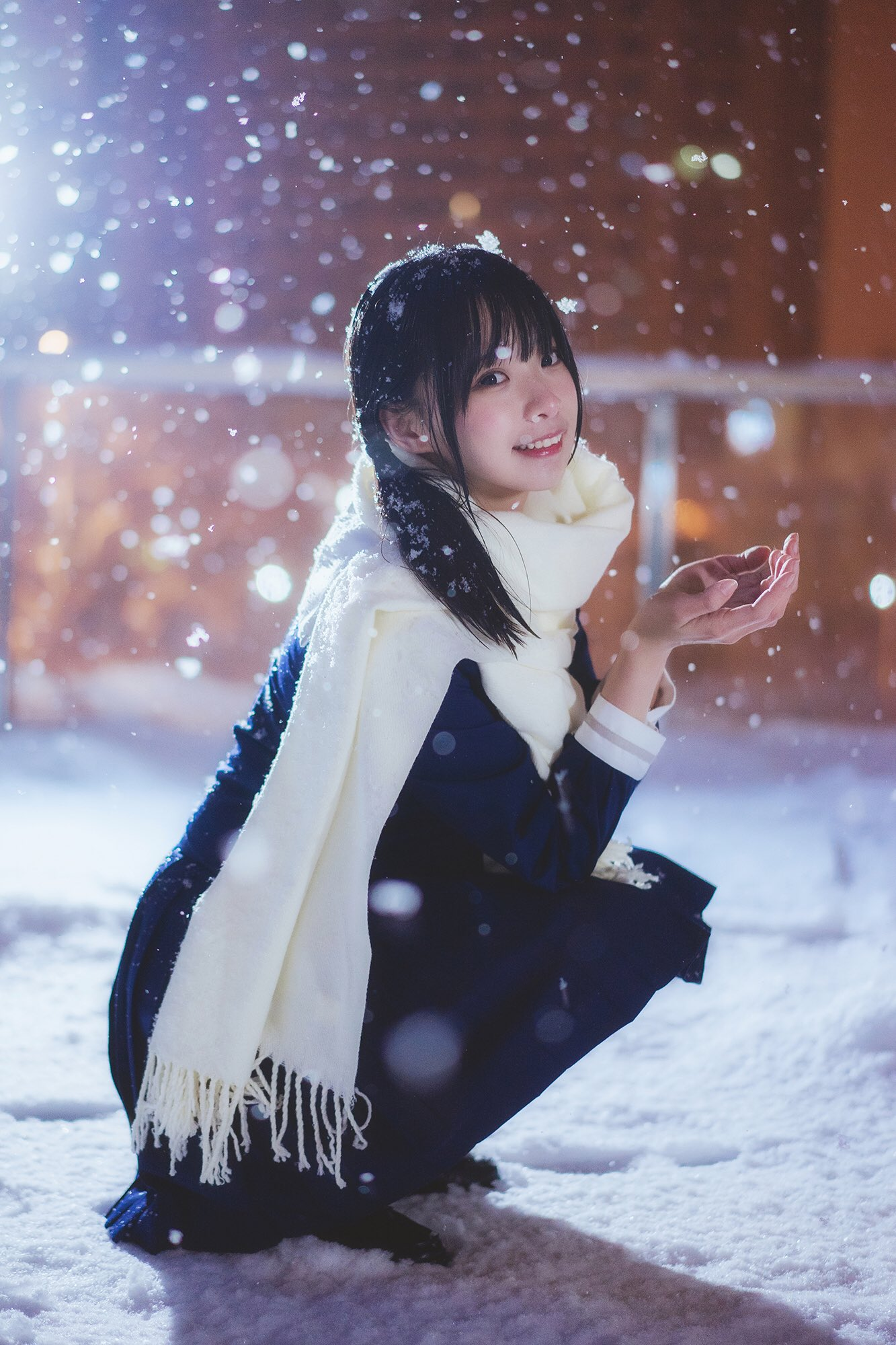 今年的第一場初雪,可以玩雪真高興 #制服美少女 #瀏海》#Cute #Girl #Pretty #Girls #漂亮 #可愛 #青春活力