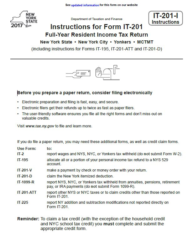 Income Tax Pro On Twitter New York Individual Income Tax Forms For