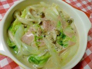 楽天レシピ On Twitter 簡単節約レシピ 白菜とハムの中華風