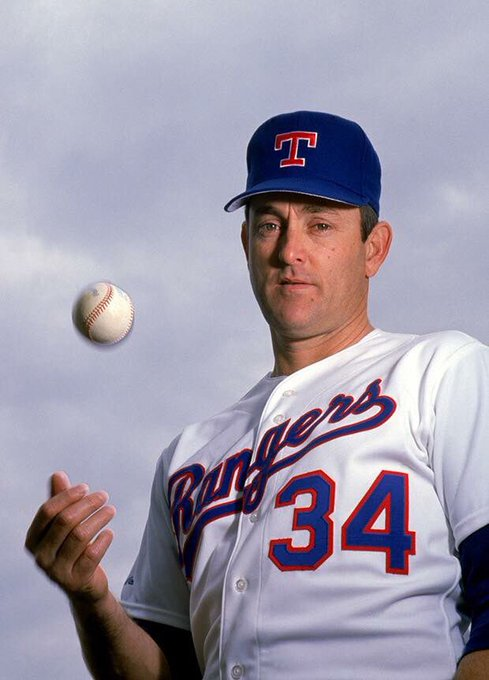 "Happy Birthday to in my opinion the greatest pitcher to play the game, ""The Ryan Express\"" Nolan Ryan."