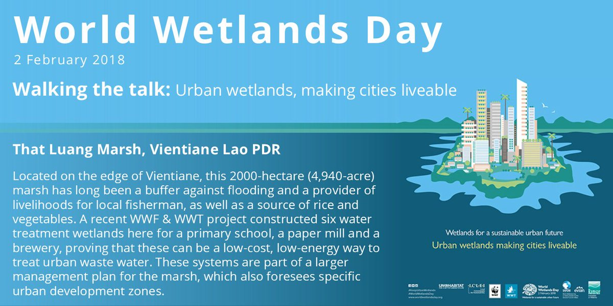 That Luang Marsh, Vientiane Lao PDR: An example of how #urban #wetlands make #cities more liveable & create #sustainablecities  #KeepUrbanWetlands #WorldWetlandsDayKe