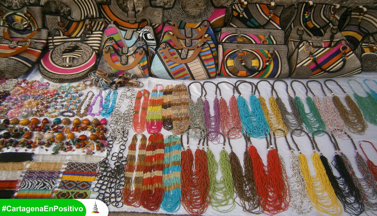 Cartagena Colombia País Conviven Culturas Riqueza Artesanal País