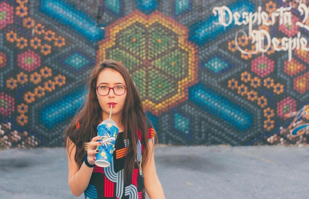 When the background of your pic compliments your Slurpee cup! #Perfection 📷: Sergio Sánchez