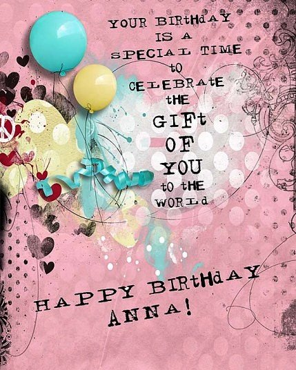Happy Birthday Anna, May all your wishes come true  Wishing you a awesome day