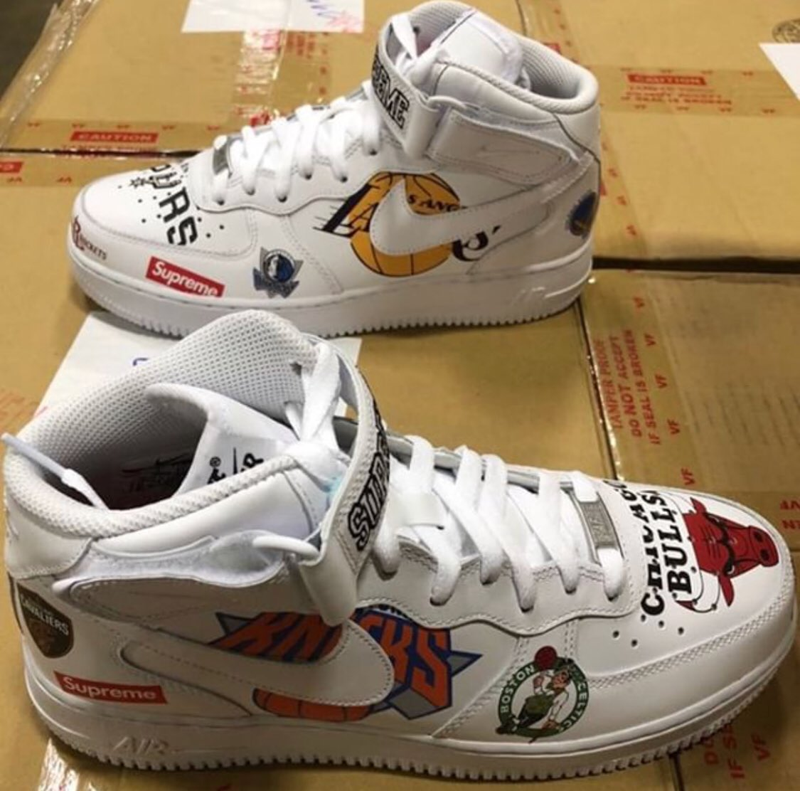 Supreme X Nike Air Force 1 Mid 2018 Imac E2dVBiH