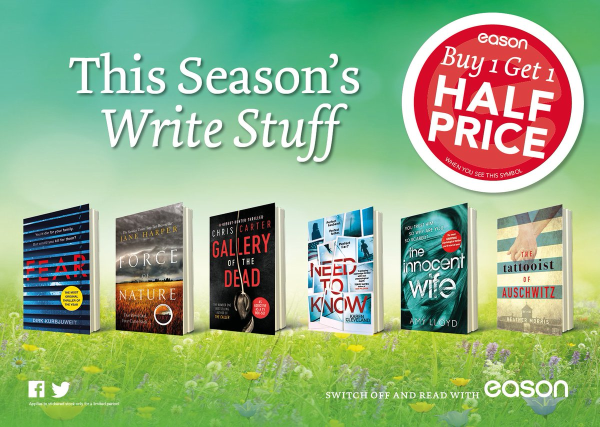 78f1ce97f1 Call into your local  easons and pick up this Season s best new reads in  our Buy One Get One Half price offer!pic.twitter.com LtdditCSTZ