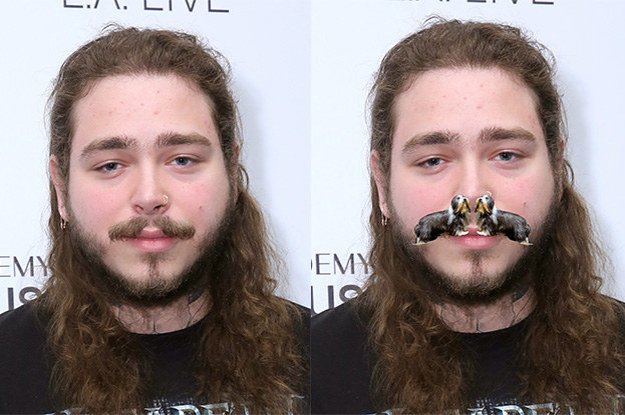 Buzzfeed On Twitter Once You Realize That Post Malone S Mustache