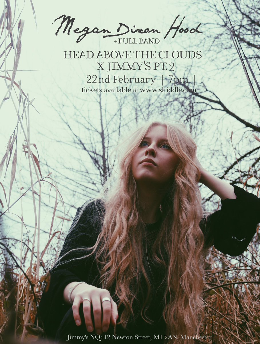ITS SHOWTIME! 💫 Delighted to be a part of Head Above the Clouds with the band at Jimmys NQ on 22nd February!