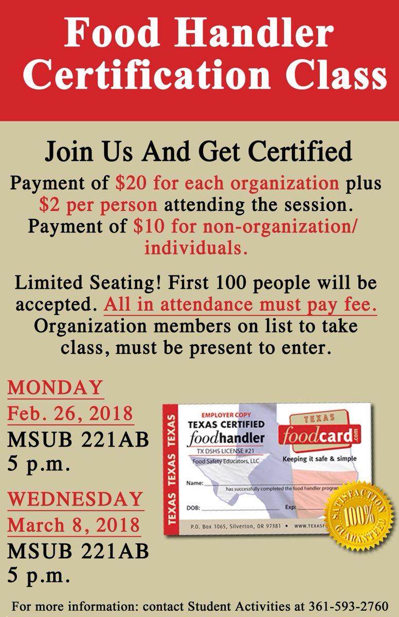 Student Activities Need Your Food Handler Certification