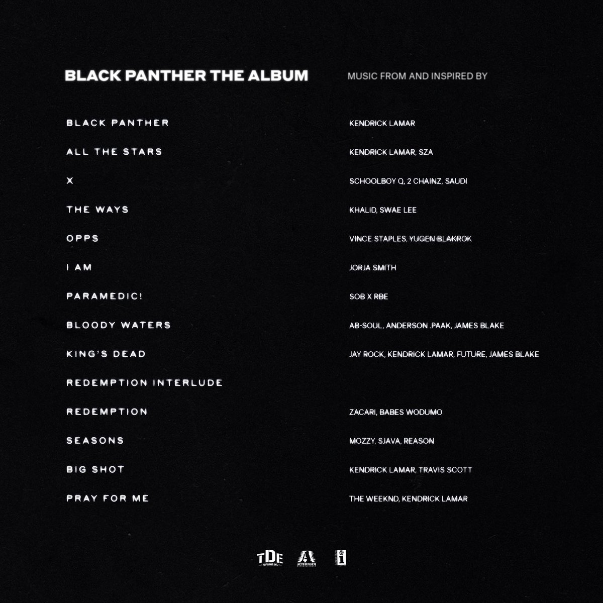 Resultado de imagem para black panther album kendrick lamar
