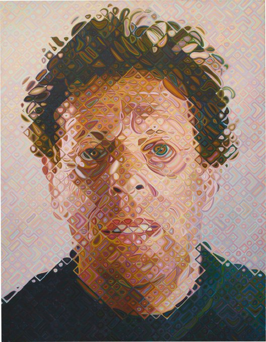 Happy birthday Philip Glass. Chuck Close, Phil, 2011-12