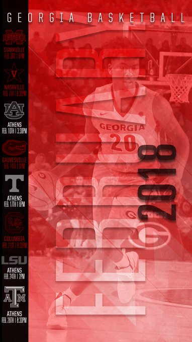 Keep Track Of The Dawgs February Schedule With This Weeks Wallpaperwednesday Committotheg