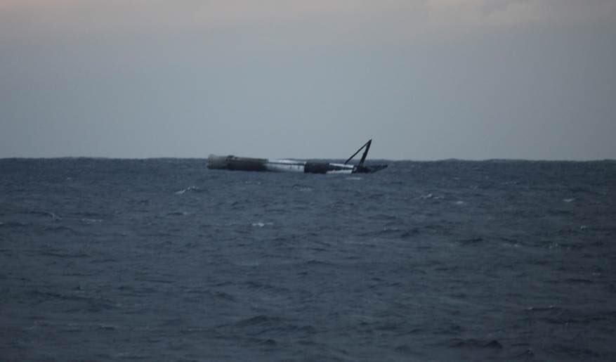 SpaceX's rocket booster survived descent despite no landing attempt