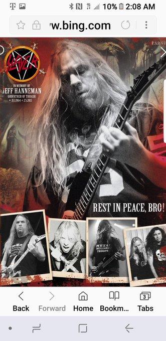 Happy birthday Mr. Jeff Hanneman! R.i.p brotha you are slayer you are metal