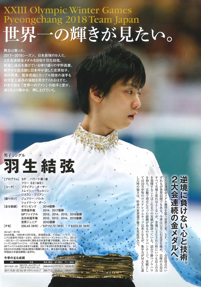 Figure Skating Magazine 2017-2018 documentario NTV Yuzuru Hanyu