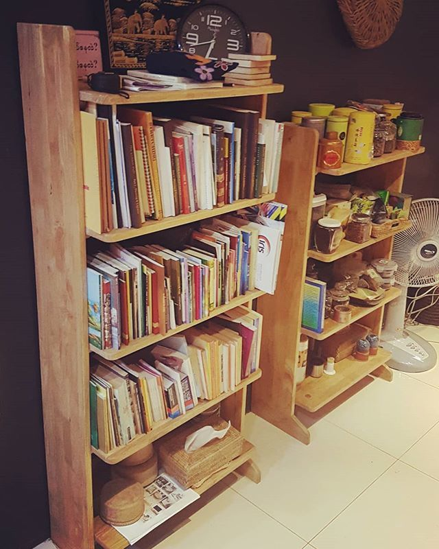 Made From Local Rubberwood And By Burmese Carpenters The Large One Goes For 250 Small 200 Gotbooks Book Books Bookshelf