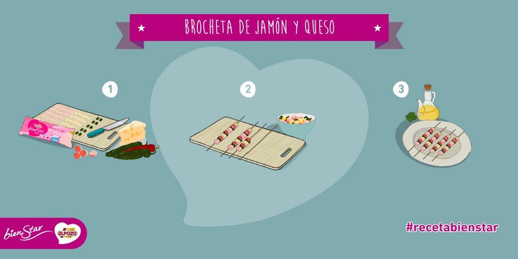 ¡Hoy, #recetaBienStar! #Brocheta de #Jam...