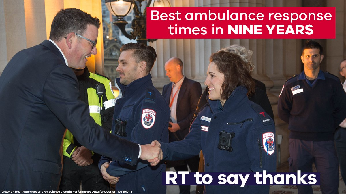 We ended the war on paramedics – and guess what happened next? Ambulances are responding to emergencies SOONER, ambulances are getting to patients FASTER, and hundreds more paramedics are about to hit the road. These people are lifesavers. Ill always have their backs. #springst