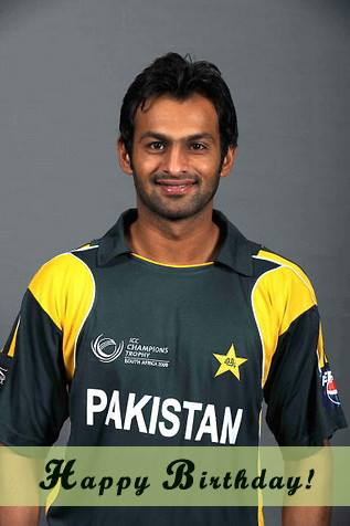 Happy birthday Shoaib Malik !!! :D