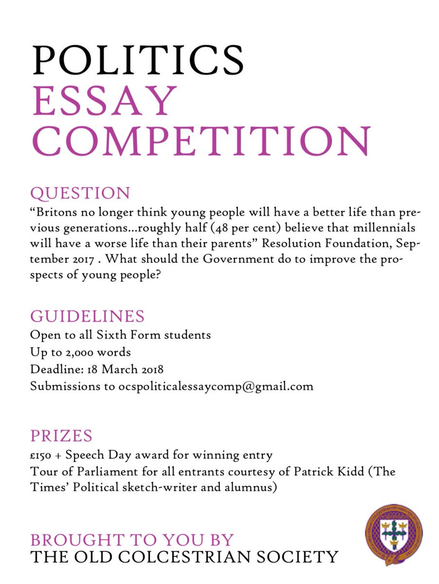 sixth form essay competition 2012 We love enrichment opportunities at tutor2u so news reaching us of an essay competition for sixth form students organised by the team at the london school of.