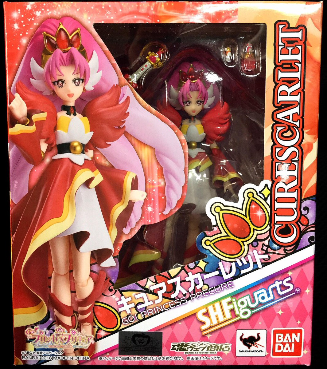 S.H.Figuarts Go Princess PreCure CURE SCARLET Figure BANDAI NEW from Japan