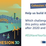 Public Consultation on the future of the Cohesion policy: Have your say in the design of the future the EU https://t.co/a1rG6FNvuZ