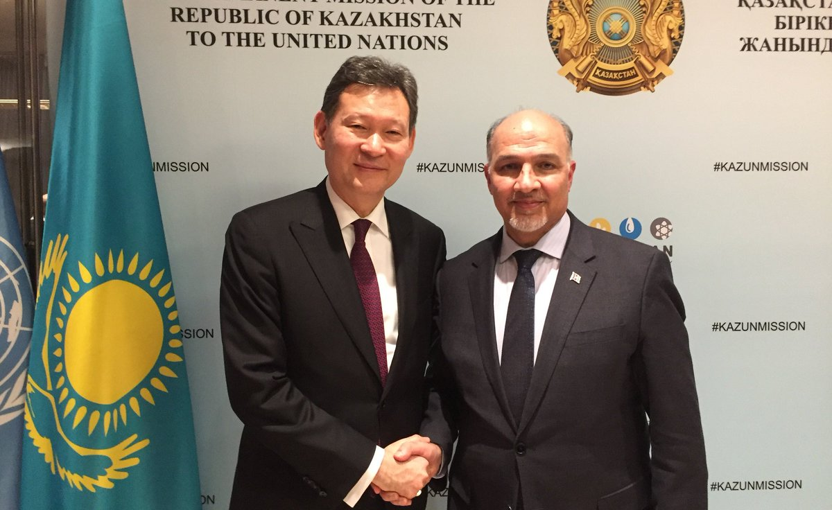 Congratulations to Amb. Kairat Umarov & his team @Kazakh_Mission for excellent Presidency of #UNSC in January, with a particular focus on #Afghanistan . Welcome to Amb. Mansour Ayyad Alotaibi and his team @KuwaitMissionUN to the Presidency in February. Wishing them good luck!