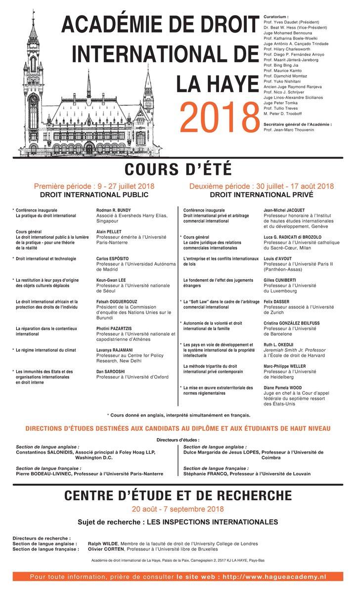The Hague Academy Il On Twitter La Date Limite Pour Les