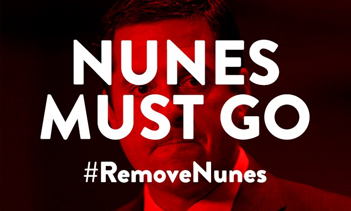 .@DevinNunes is putting our national security at risk, ignoring concerns from the FBI & DOJ to advance a conspiracy theory. RT if you know Speaker Ryan must  imm#RemoveNunesediately!