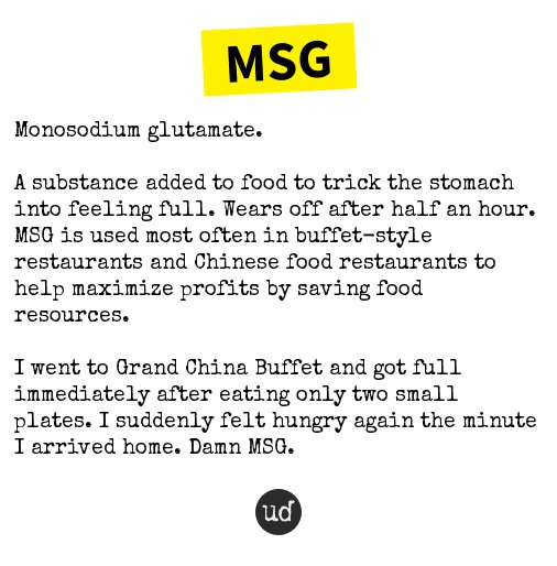 Msg urban dictionary