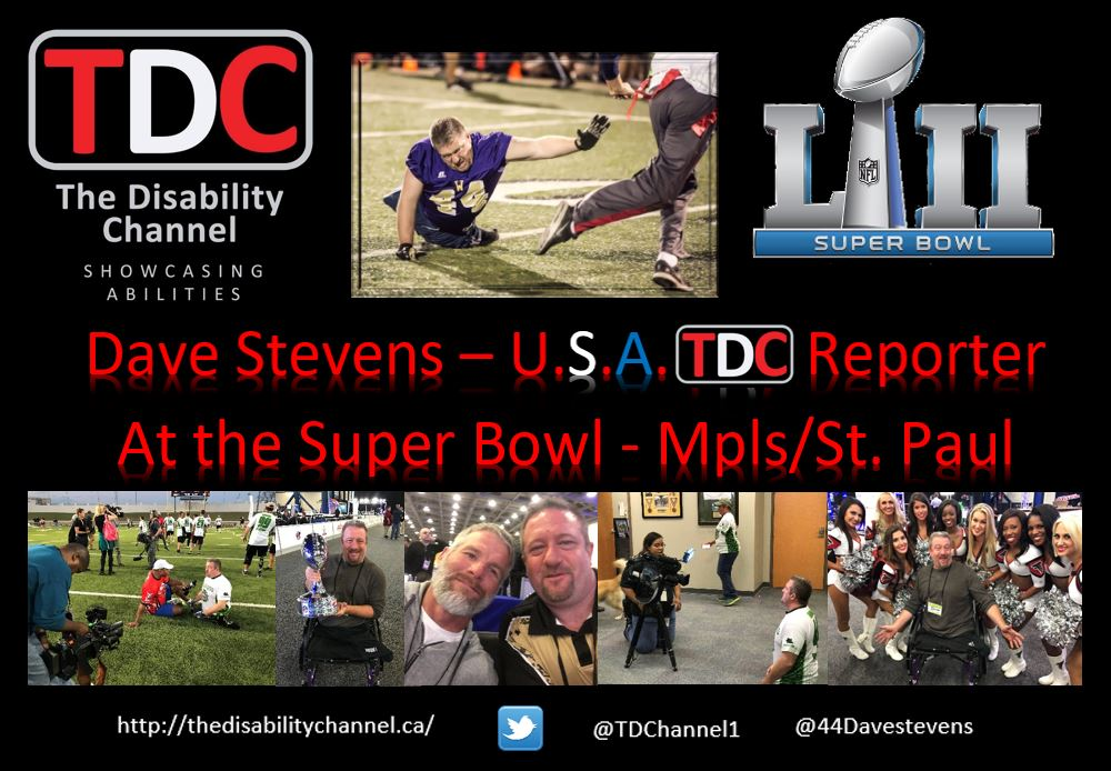The #DisabilityChannel  showcased a #live  feed to the #SUPERBOWL  festivities last night...#WoundedWarriorsUSA   - check our #Facebook  & #Youtube  platforms! #MinnesotaVikings    http://www.fox9.com/news/wounded-warriors-former-vikings-players-face-off-for-good-cause  … @44Davestevens  @jaystoyan  @D3DreamAndDo  @MinnesotaScore