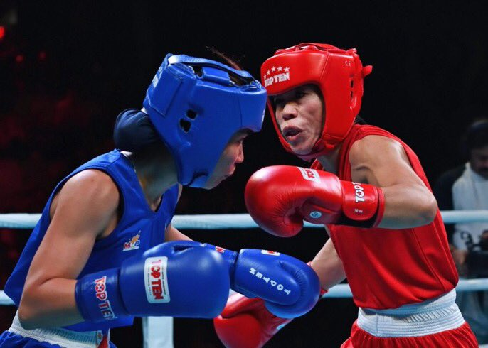 DU9Th HXkAAmZTP - Mary Kom clinches Gold in Indian Open Boxing Tournament