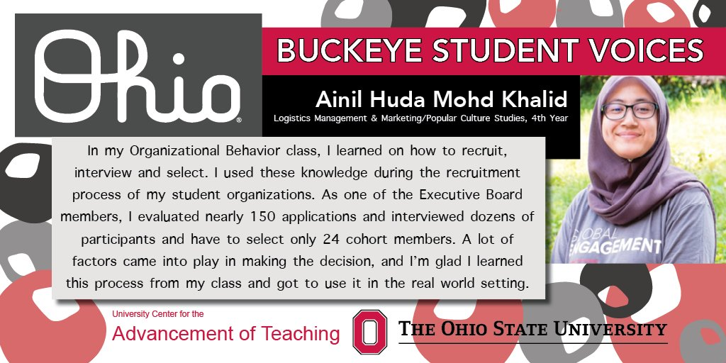 Practical application of course material help @OhioState students prepare for their careers #MondayMotivation