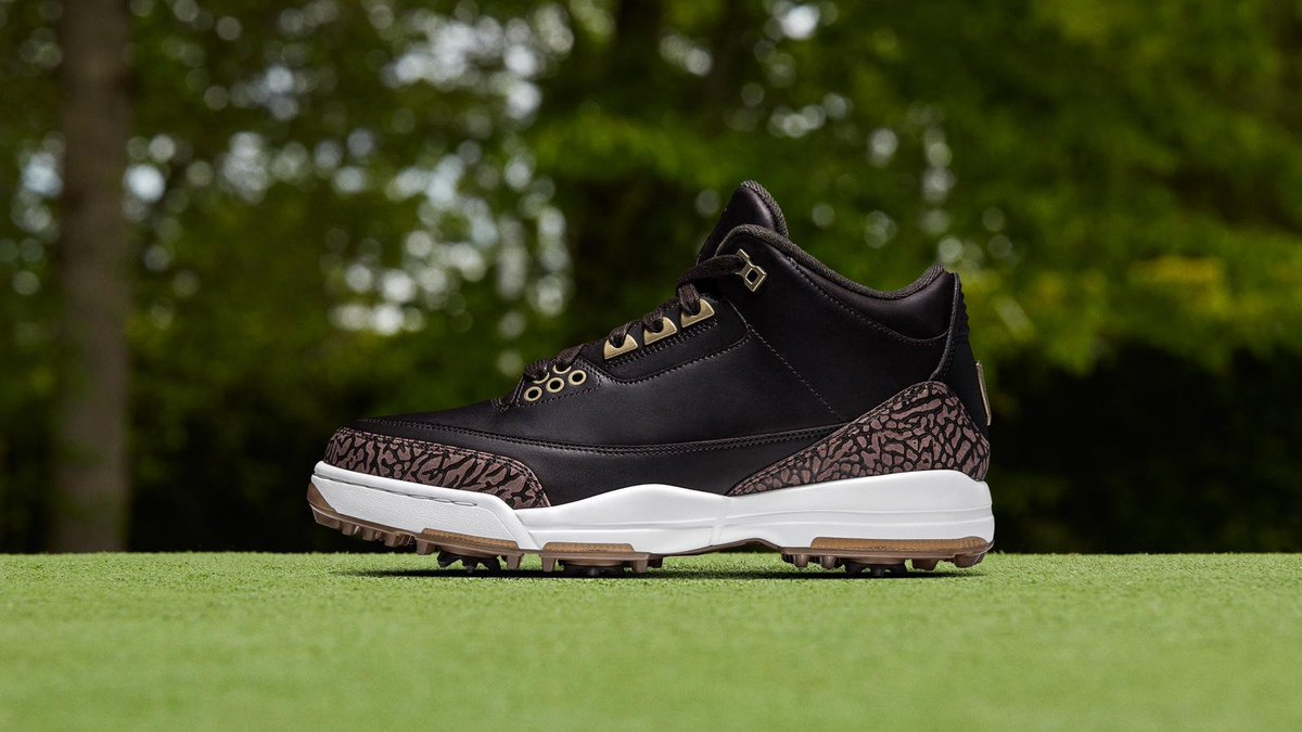 """3eddd4af413406 Jumpman23 Air Jordan 3 Golf shoes releasing February 16th in """"White Cement""""  and """"Bronze PRM"""" Details -  https   t.co AO3ln0fCDr…  https   t.co UlJYKb4oDA"""