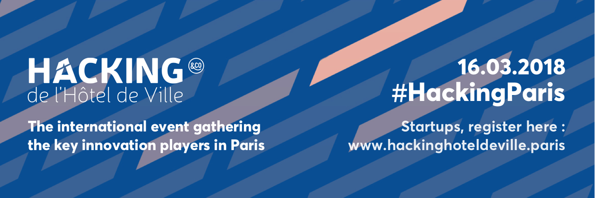 Apply for the #HackingParis 2018 event which will take place at the City Hall @Paris on the 16th of March!  http://www. parisandco.paris/Actualites/A-l a-Une/Hacking-de-l-Hotel-de-Ville-2018-les-inscriptions-sont-ouvertes   …  @Paris_and_Co @mairiedeparis @jlmissika @BidartK @loicdos @50Partners @MBADMB<br>http://pic.twitter.com/EY1DKJg9R6