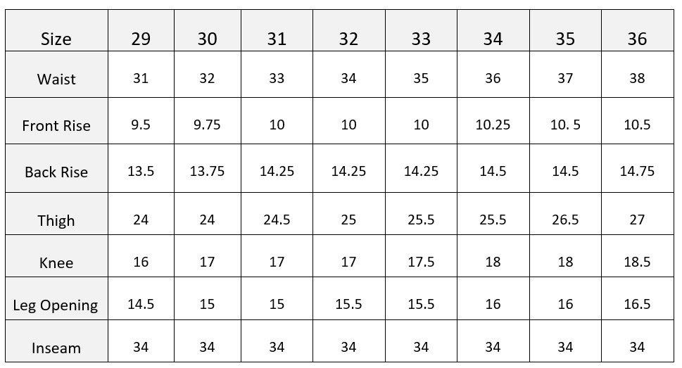 Banana Republic Size Chart Mens
