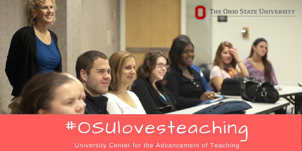 Celebrate how much #OSUlovesteaching this month by sharing images of @OhioState teaching moments that speak to you.