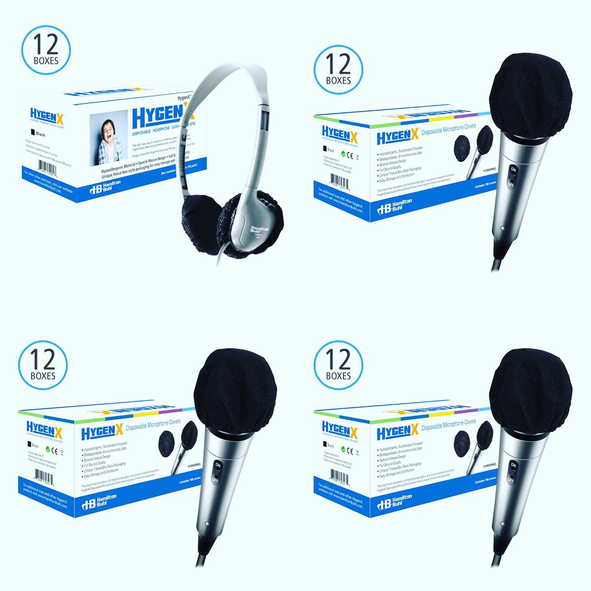 Perfect for #classrooms #schools #colleges #libraries #museums #tourist #attractions #hotels : #HYGENX #SANITARY DISPOSABLE MICROPHONE COVERS - 100% WHITE COTTON from #HamiltonBuhl SHIPPING NOW!🎧📱😎🍏 Visit #Encoredataproducts at #TCEA Booth 1630 https://t.co/euM7PzbuSl