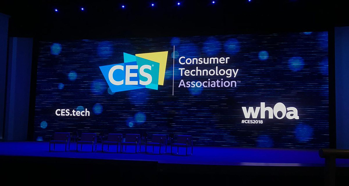 See photos from the #CES2018 show floor https://t.co/FRB65mQySj