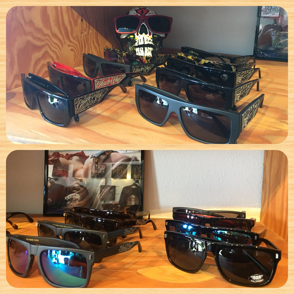 d9bc9b496d0 ... And Fly Nights shades! Available in different color frames and lens!  Come by and get FLY!  houseofflyspic.twitter.com OY9MzFUSBQ – at The House  of Flys