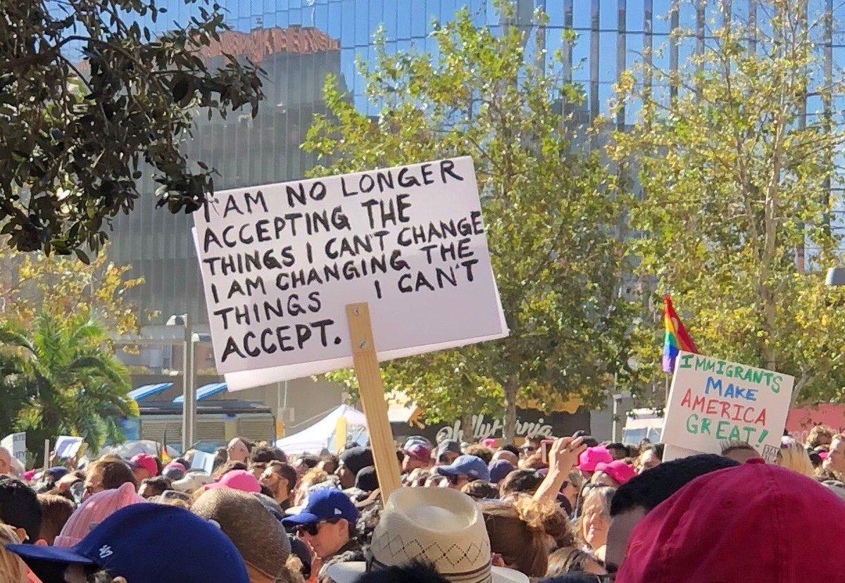 LA march right now ...