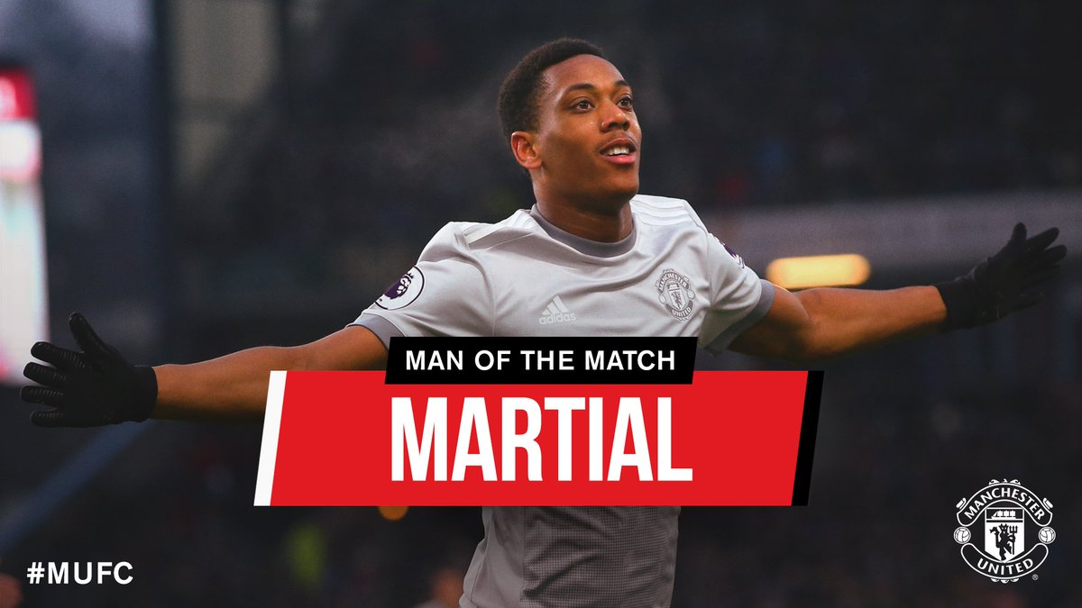 He's now found the net in his last three Premier League games - today's goalscorer @AnthonyMartial is your #MUFC Man of the Match! 👏