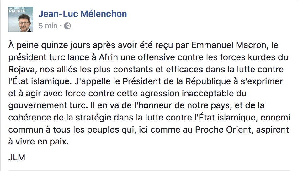 Jean-Luc Mélenchon's photo on Daech